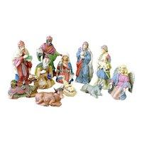 Ceramic Christmas Nativity Scene Figures Set