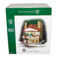 Green Dragon Coffee Dept 56 Christmas Village House