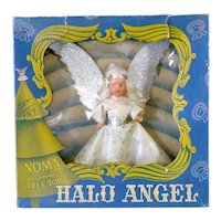 1940s Noma Composition Face Halo Angel Tree Topper