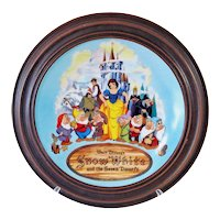 Disney Snow White 1987 Framed Collector Plate