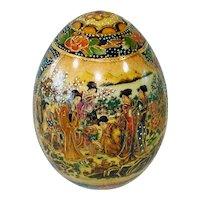 Geishas Chinese Satsuma Style Pottery Egg