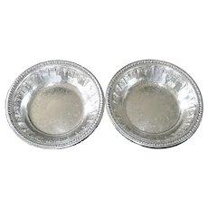 Reed & Barton Riviera Silverplate Pair Bon Bon Bowls