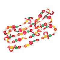 Lifesavers Candy Cane Retro Soft Plastic Christmas Garland