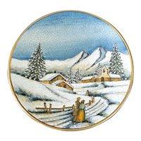 Veneto Flair 1977 Christmas Plate Tiziano Italy