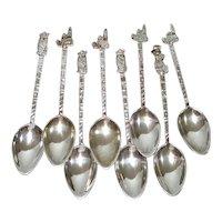 Set 8 Mexico Demitasse Spoons 850 Silver