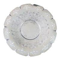Wm A Rogers Pierced Engraved Silverplate Tray