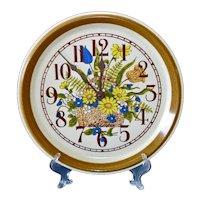 Mikasa Garden Bouquet Plate Clock Seth Thomas