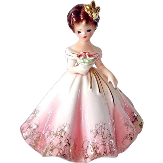 Josef Originals Mary Lou Pink First Formal Figurine