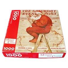 Mapping His Course Springbok Christmas Santa Jigsaw Puzzle