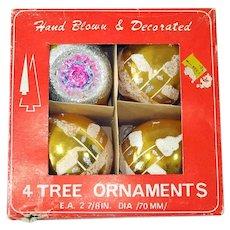 Box 4 Poland Large Teardrop Glass Christmas Ornaments