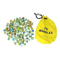 Bag of 89 Glass Cats Eye Marbles
