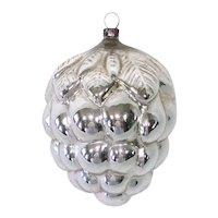 1920s Japan Mercury Glass Grape Cluster Christmas Ornament