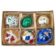 Box Large Poland German Glass Christmas Ornaments