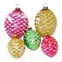 Japan Glass Pinecone Christmas Ornaments