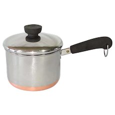 Revere Copper Clad Stainless 1.5 Qt Tall Covered Saucepan