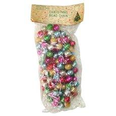 Beaded Glass Christmas Garland Original Package Multi Color