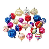 22 Poland Decorated Glass Christmas Ornaments