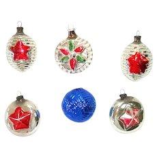 1920s Japan Embossed Christmas Ornaments