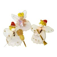 Christmas Angel Ornaments Wired Tulle Chenille