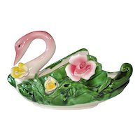 Royal Sealy Swan With Roses Planter
