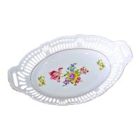 Bavaria US Zone Reticulated Porcelain Bread Tray Bowl