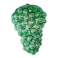 Antique German Green Grapes Kugel Christmas Ornament