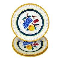 Stangl Fruit Pattern Dinner Plates Set of 3