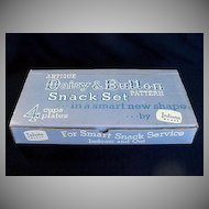 Indiana Daisy & Button 8 Piece Crystal Snack Sets Mint in Box - 4 Boxes Avail