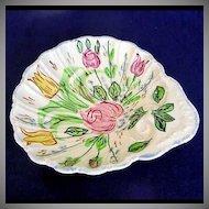Blue Ridge Nove Rose Shell Shaped Bowl