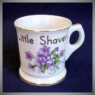 Occupied Japan Child's Shaving Mug with Violets