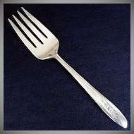 Silver Tulip International Silver Cold Meat Serving Fork