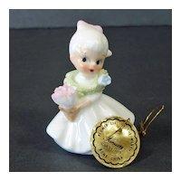 Napco Bone China Mini January Flower Girl Month Figurine