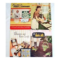 Four 1950s Crochet Pattern Instruction Booklets, Nice Variety of Patterns