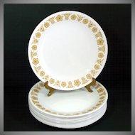 6 Corelle Butterfly Gold Dinner Plates