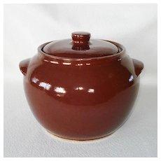 Watt Stoneware Brown Bean Pot Cookie Jar