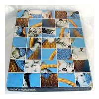 Here Kitty Kitty Springbok Cats Jigsaw Puzzle