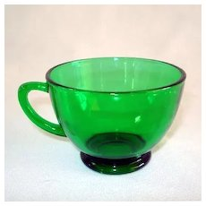 Anchor Hocking Forest Green Punch Cups, 12 Available