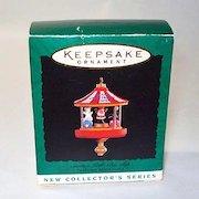 Hallmark 1995 Miniature Santa's Little Big Top Christmas Ornament