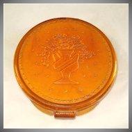 Elizabeth Arden Butterscotch Lucite Powder Compact