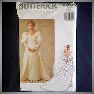 Butterick Uncut Bridal Wedding Dress Sewing Pattern Size 6-12