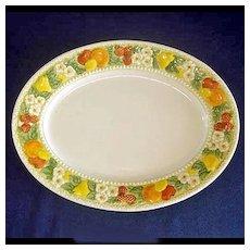 Metlox Vernon Ware Della Robbia Oval Serving Platter