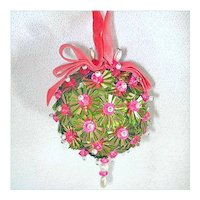 Beaded Sequined Vintage Christmas Ornament