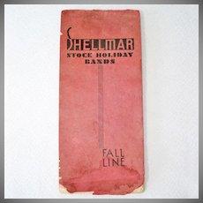1934 Cellophane Holiday Ribbon Bands Sample Book