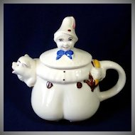 1940s Shawnee Tom The Pipers Son Pottery Teapot
