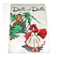Dolls and Dolls 1951 Crochet Doll Clothing Pattern Booklet