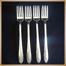 Princess Royal National Silver Silverplate Grille Fork, 4 Available