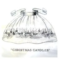 Lee Wards Organdy Christmas Apron To Embroider Mint in Package