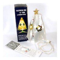 Rainbow Halo Lighted Fiber Optic Christmas Tree In Original Box