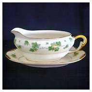 Pope Gosser American Ivy Gravy Boat With Underplate