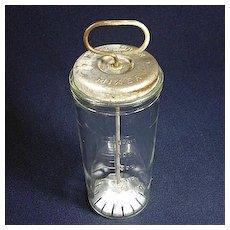 1932 Gibson Hazel Atlas Glass Plunger Style Home Drink Mixer Beating Jar